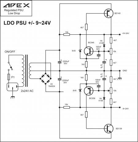 APEX LDO PSU 9-24v Schematic