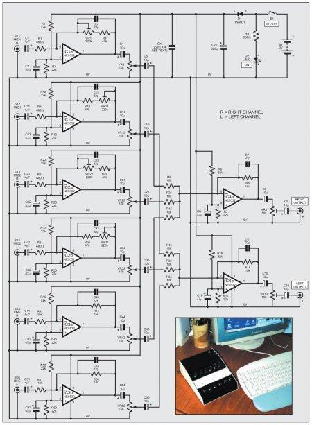 SOUND  CARD Mixer Schematic