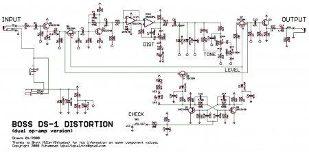 Схема DS-1 Distortion