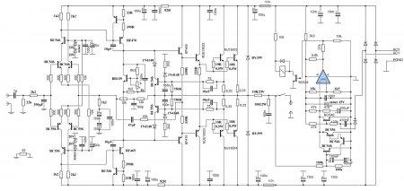 275W RMS Power Amplifier Schematic