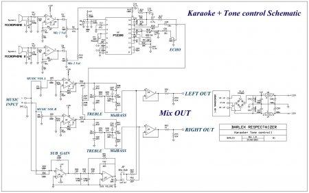 Karaoke Tone control_Принципиальная схема