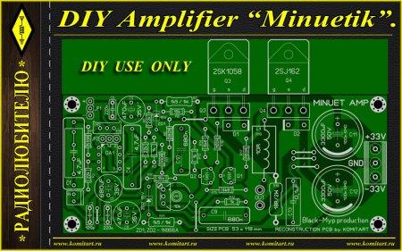 DIY Amplifier Minuetik KOMITART Project