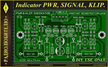 Indicator PWR SIGN KLIP KOMITART Project