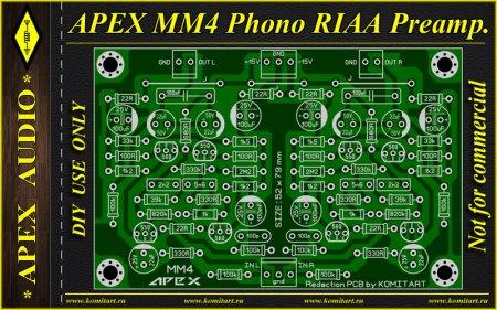 APEX MM4 Phono RIAA Preamp KOMITART Project